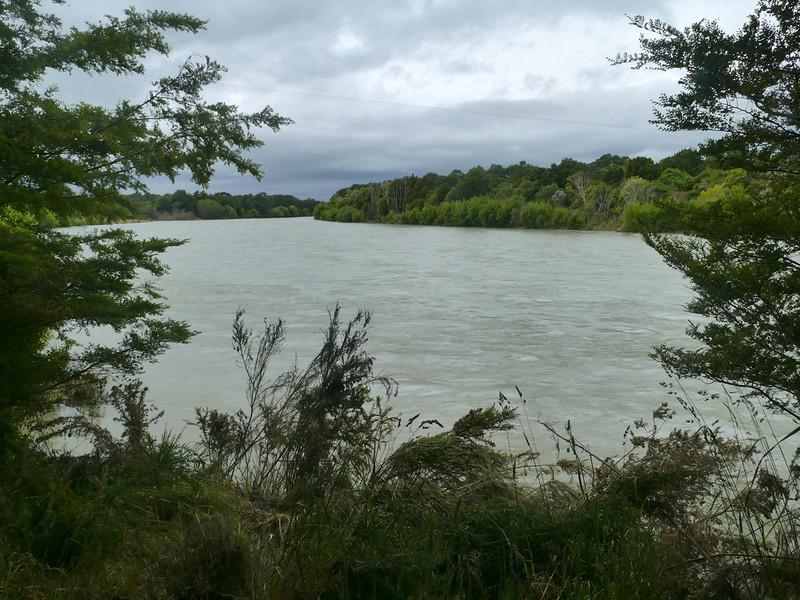 Waiau River in flood