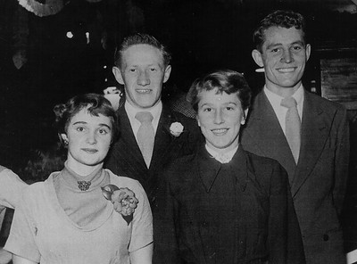 Beryl Franklin, Colin Holmes, unknown, Barry Flakely.
