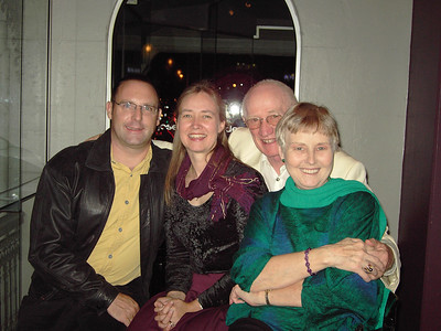 Allison Peacock's 40th Birthday, 11th August 2005. Paul Peacock, Allison Peacock, Colin Holmes, Enid Holmes.