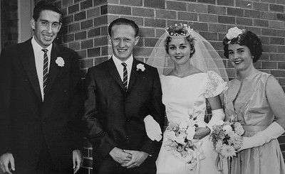 Marriage of Colin Holmes to Enid Pryor, 9th December 1960.