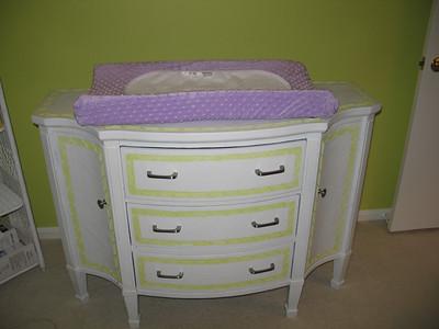 Grandma Susie painted the dresser.