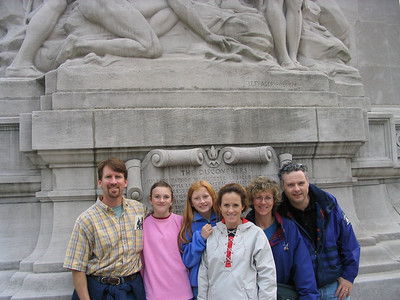 The Carrolls and The Witherspoons  Beneath the guard tower on the Michigan Ave bridge, Chicago