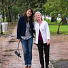 Lili and Sarah stroll in Bogota.