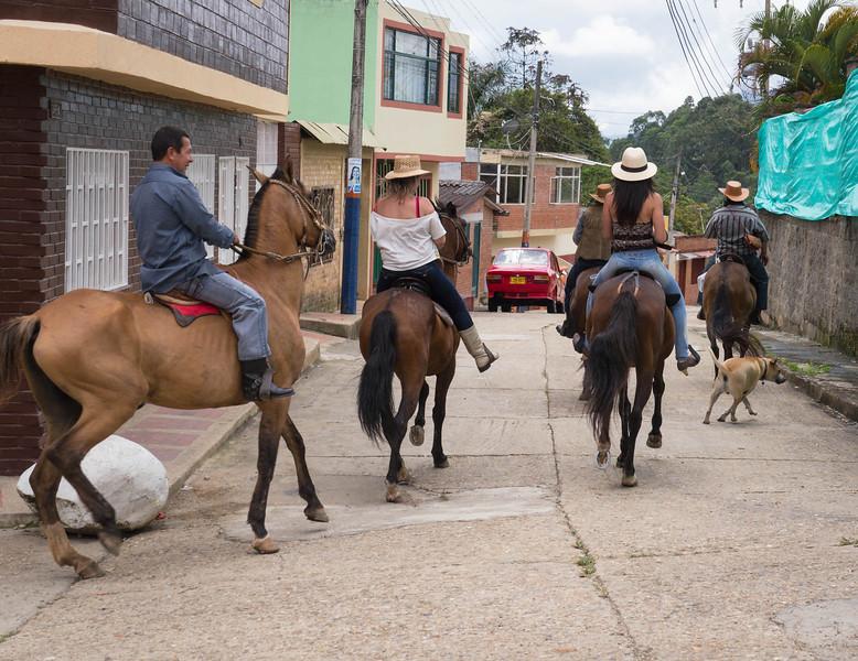 Some caballeros ride through town