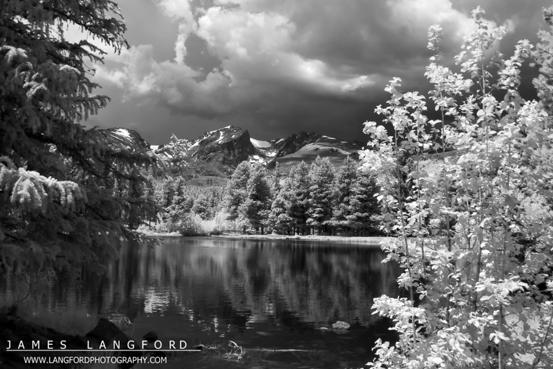 This is from about the 1/2 way point, looking back towards the mountains.  This is an Infrared shot.