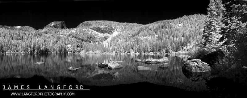 Infrared picture of Bear Lake.
