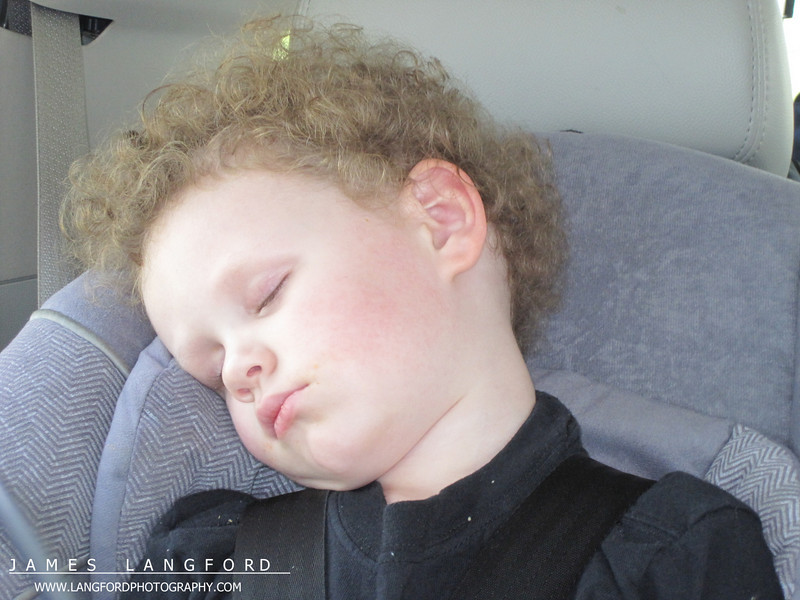 We had lots of naps in the car as well.