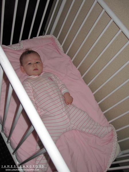 Erin slept like a champ!