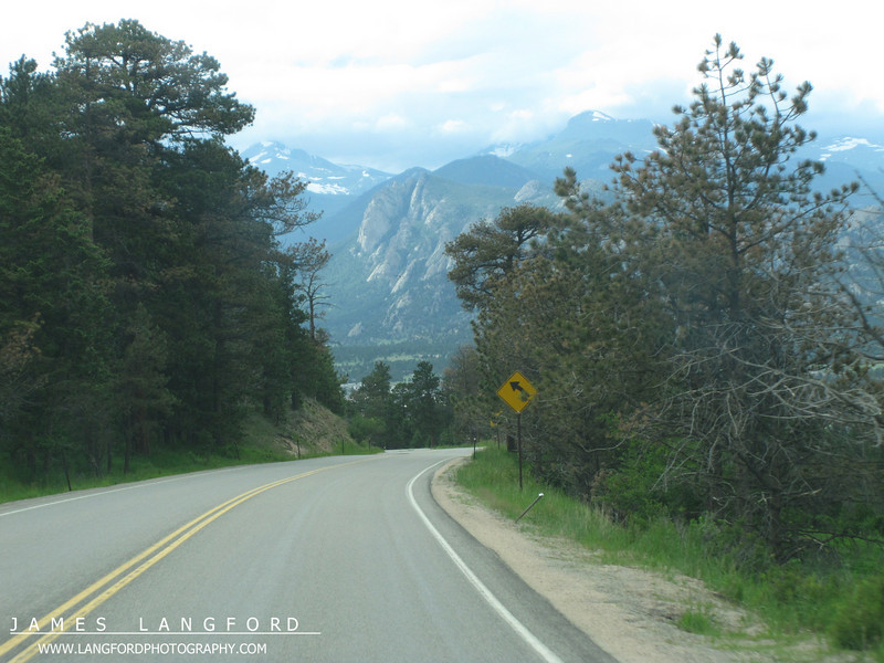 Our first view of Estes Park as we came down out of the mountain pass.
