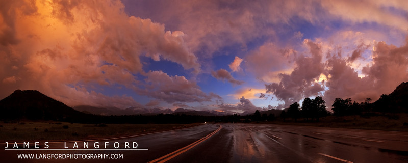 More of the same sunset.  This is from right outside the entrance to Rocky Mountain National Park.