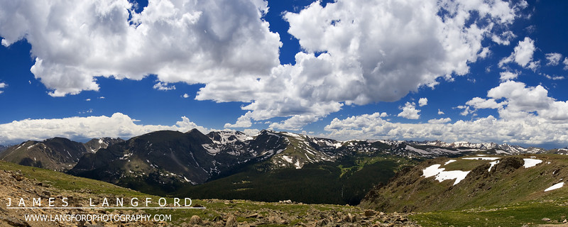This is from another of our days up in Rocky Mountain National Park.  This is from near the top of Trail Ridge Road, which runs at close to 12,000 feet.  The scale of everything up there is amazing, and the pictures really don't do it any justice.