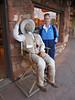 Iz making friends in Sedona, AZ.
