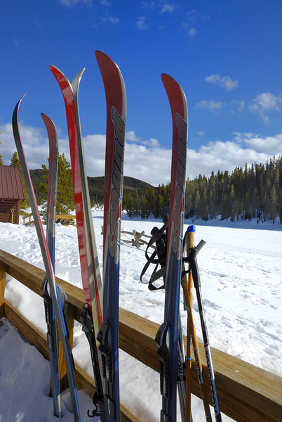 Skis, ready to glide.