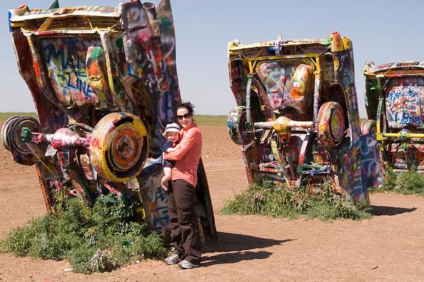 Amy & Hampton @ Cadillac Ranch<br /> Amarillo, TX