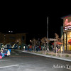People line up to get free Chick fil-A for a year in tomorrow's grand opening of the new location in Aurora, Colorado.