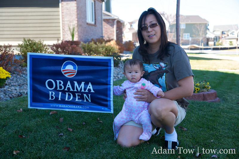 I'm sure that Abby would vote for Obama if given the choice.