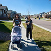 Taking a walk with Abby, May, and Rae around May and Salim's neighborhood in Aurora, Colorado.