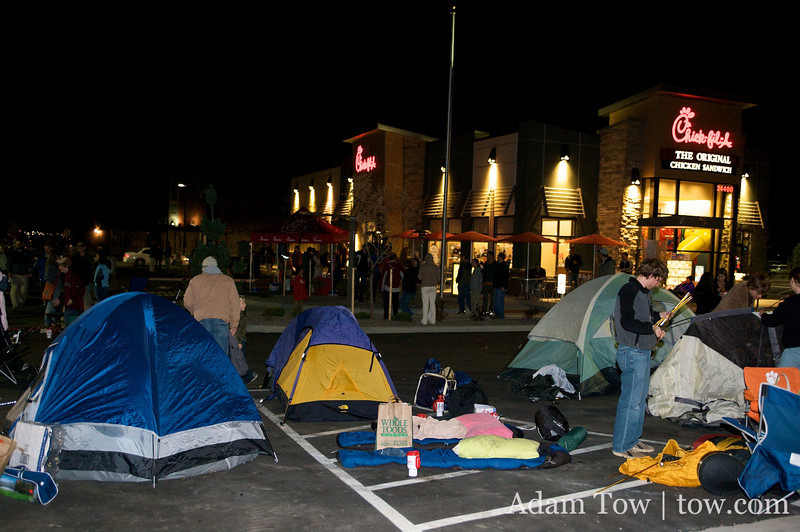 It feels like Burning Man outside of the new Chick fil-A restaurant in Aurora, Colorado.