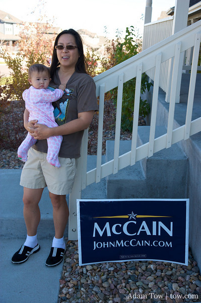 We're going to replace this McCain sign with an Obama sign.