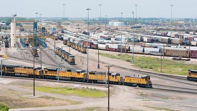 Union Pacific train yard in North Platte, NE.
