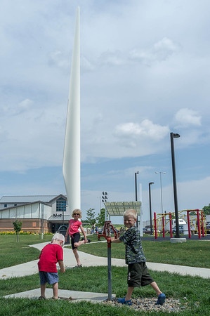 Playtime at rest area in Iowa