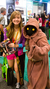 Freaky! Yes, there are Star Wars characters at Comic-con.