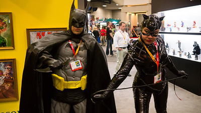 The First Costumed Couple Turns out there are a large number of couples who attend Comic-con in costume together.  Anyone in costume is very happy to pose for a photo.