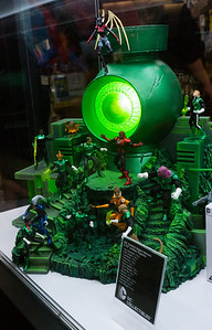 Green Lantern Collectibles Sydney was excited by these Green Lantern collectibles.
