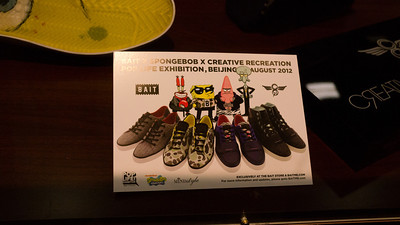 All the Spong Bob Cast! A bit surprised to see all characters have their own shoes.
