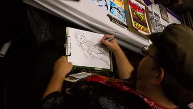 Super Sketch Working on Super Syd art.
