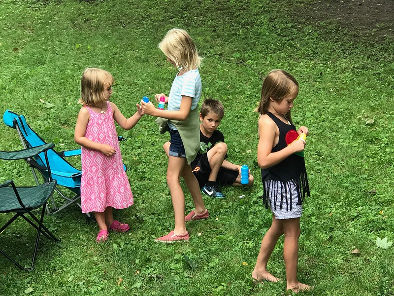 Myra, Allegra, Miller and Eva in Vermont