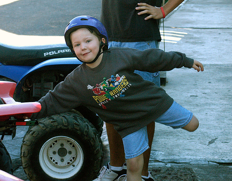 (12.27.2006)  Connor excited about going ATV riding.