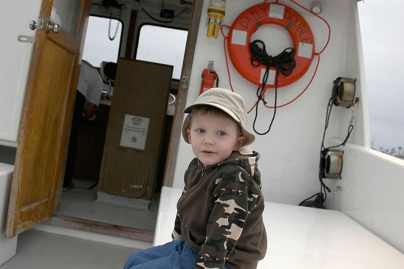 May 28, 2005 --- Our intrepid fisherman about to embark on a deep sea fishing trip.