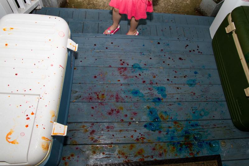 Colored bubbles, Lori? Really?