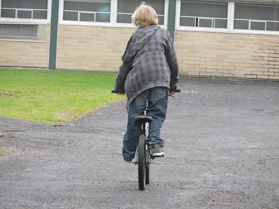 4-24-2010 Conrad on his BMX at Maywood School