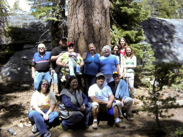 Kathie's memorial (6/2010). Clockwise from right: Conrad, Thomas, Kati, Nicole, Anna, Meg, Susan, Keri, Elise, Kristi, Michael, Anissa & Kirsten