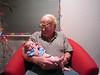 Grandpa Conrad and Nicole (Christmas 2009)