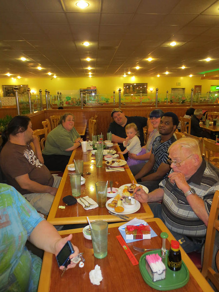 No time for photos; have SEAFOOD! (Conrad's 77th bday (2012))
