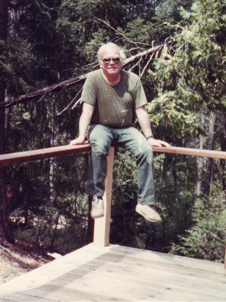 Conrad on the deck rails