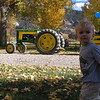 Looking at the tractor before the hay ride outside of Durango in 10/08