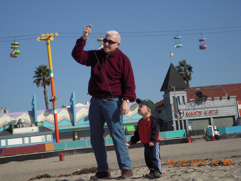 Flying a kite with Grandpa Ken