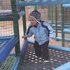 At 2 1/2 years old ventures away from the kiddy slide into the 3 story playground at the Albuquerque Zoo...fun!