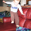 Cooper's newest thing - couch jumping - from the arm onto the seat...looks like fun!  The question is...does a good parent let their kid do this or not?
