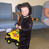 Trick-or-treating as a monkey in the University of Iowa Hospital 10/31/08.