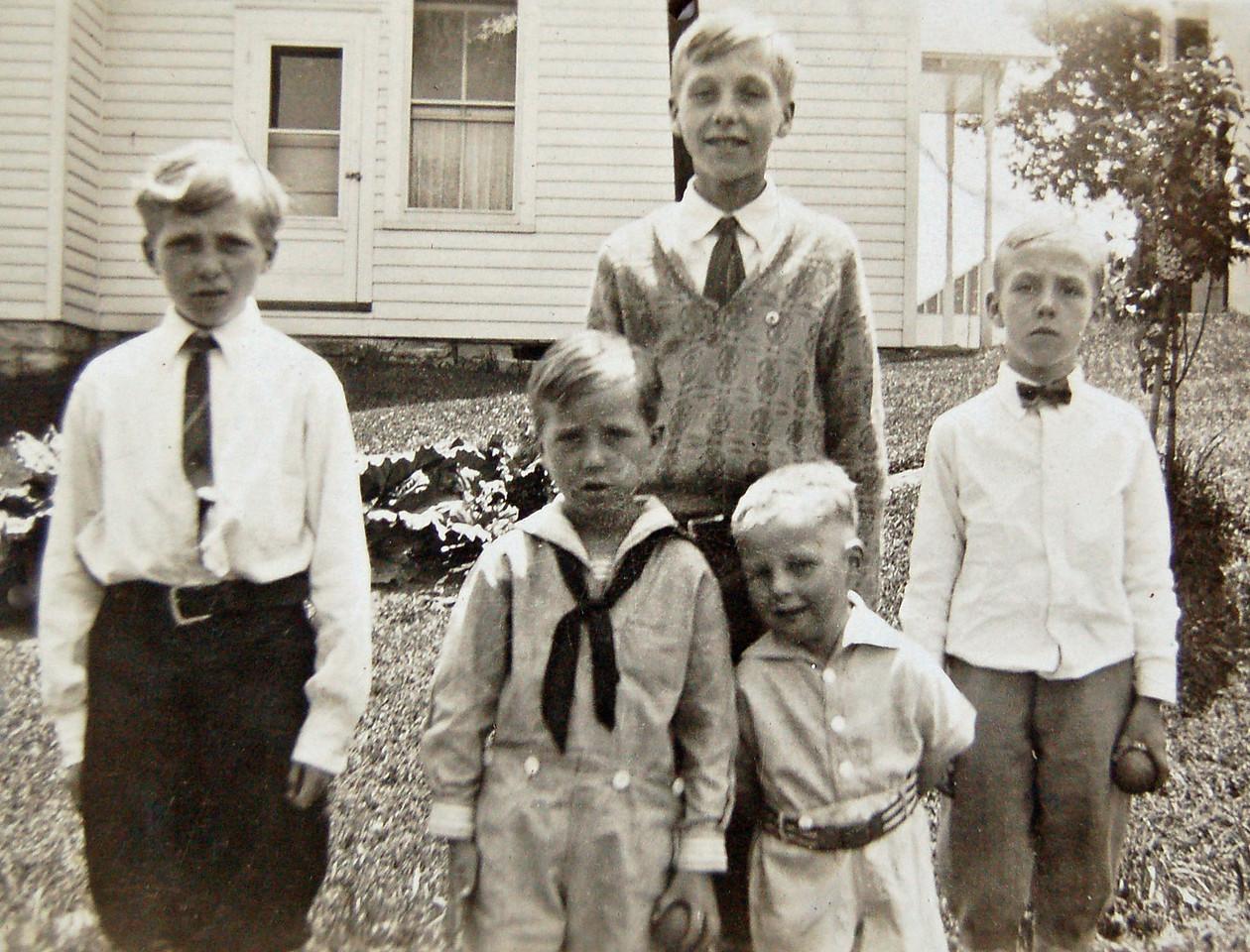 Rigdon Boys: Charles, Bill, Bob, Pete & John