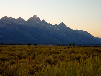 This is the view of the Grand Tetons from near the airport at Jackson, WY