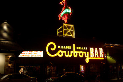 This is a famous bar in the center of Jackson, WY.  I think Cousin David volunteered he'd spent some time there.