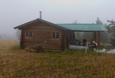 We continued up to the top of the mountain.  This is the log cabin where Cory planed to stay while visiting.