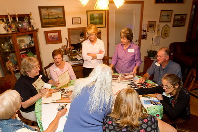 Name tags helped sort out everyone. Janet, Mary, Nelda, Vivian, Teri, Don, Mary Deborrah, Hanah