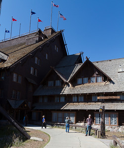 Visiting Old Faithful Inn was something we eagerly anticipated.  The insides are amazing.